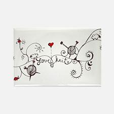 Funny Knitting Rectangle Magnet (100 pack)