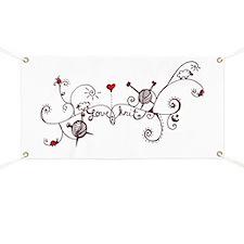 Cute Yarnaholic Banner
