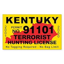 Kentuky Terrorist Hunting License Decal