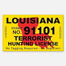 Louisiana Terrorist Hunting License Decal