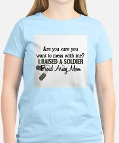 Raised a Soldier - Mom T-Shirt