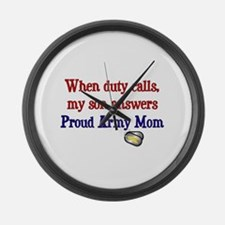 When Duty Calls - Mom Large Wall Clock