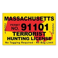 Massachusetts Terrorist Hunting License Decal