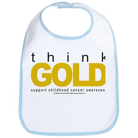 Childhood Cancer Think Gold Bib