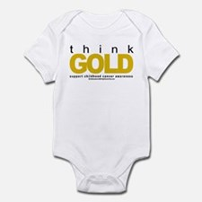 Childhood Cancer Think Gold Infant Bodysuit