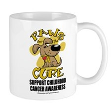 Childhood Cancer Paws for the Mug