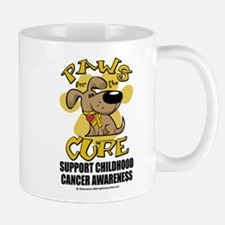 Childhood Cancer Paws for the Mug