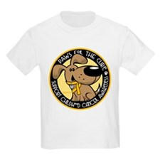 Childhood Cancer Paws for the T-Shirt