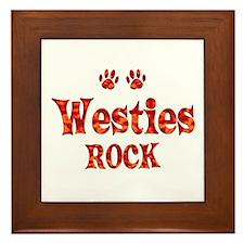Westie Framed Tile