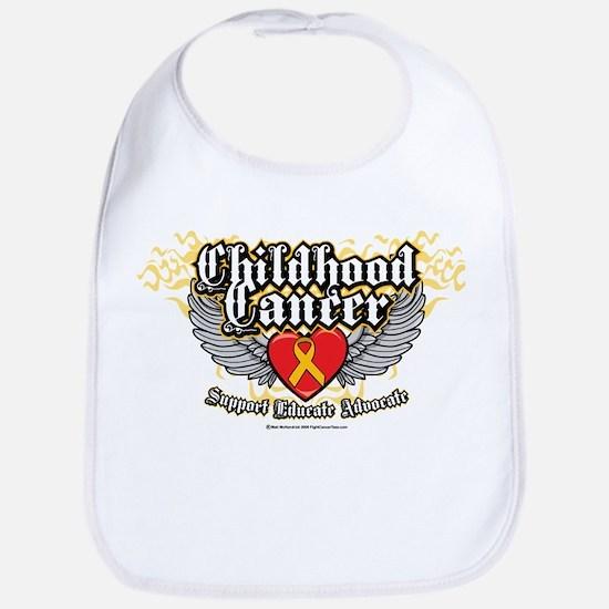 Childhood Cancer Wings7 Bib