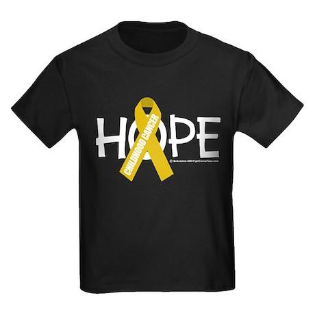 Childhood Cancer Hope Kids Dark T-Shirt