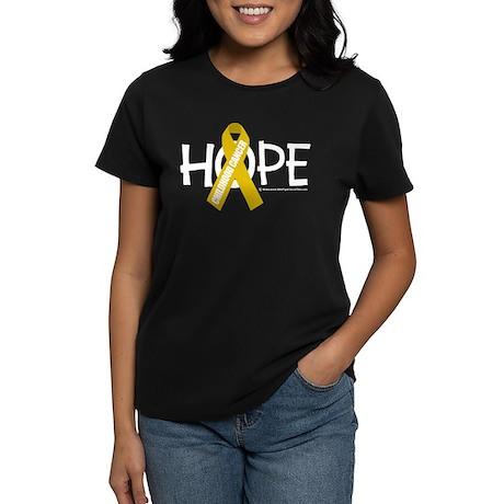 Childhood Cancer Hope Women's Dark T-Shirt