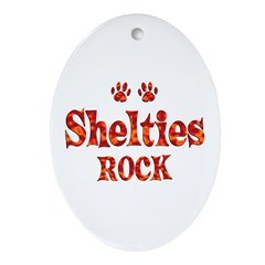 Sheltie Ornament (Oval)