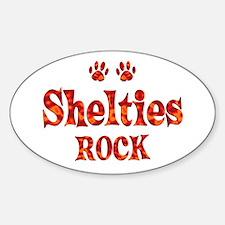 Sheltie Sticker (Oval)