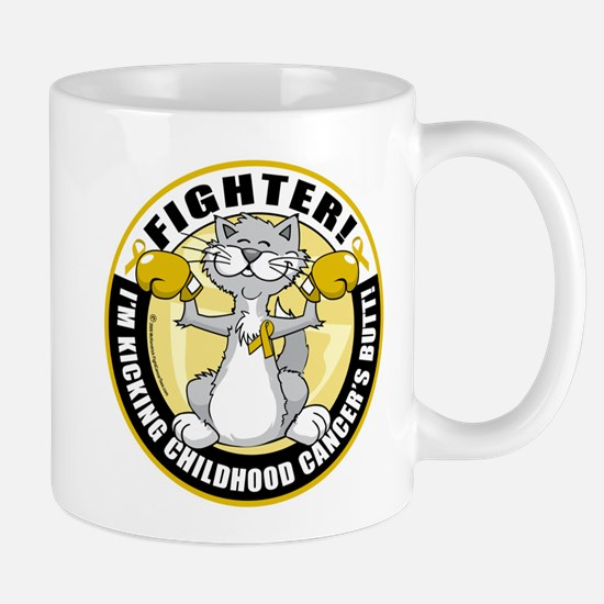 Childhood Cancer Fighter Cat Mug