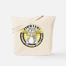 Childhood Cancer Fighter Cat Tote Bag