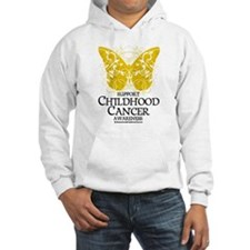Childhood Cancer Butterfly 2 Hoodie