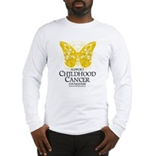 Childhood Cancer Butterfly 2 Long Sleeve T-Shirt