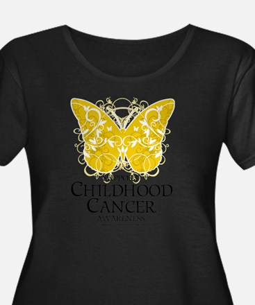 Childhood Cancer Butterfly 2 T
