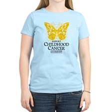 Childhood Cancer Butterfly 2 T-Shirt