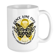 Childhood Cancer Tribal Butte Mug