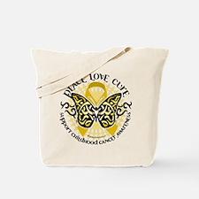 Childhood Cancer Tribal Butte Tote Bag