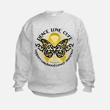 Childhood Cancer Tribal Butte Sweatshirt