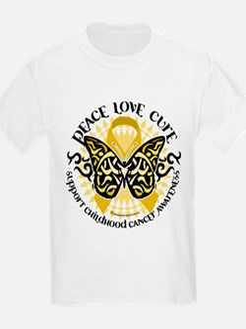 Childhood Cancer Tribal Butte T-Shirt