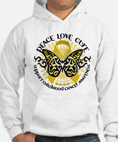 Childhood Cancer Tribal Butte Hoodie