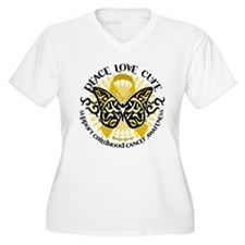 Childhood Cancer Tribal Butte T-Shirt