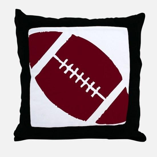 FOOTBALL *1* {crimson} Throw Pillow