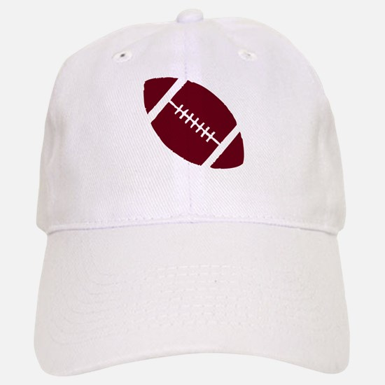 FOOTBALL *1* {crimson} Baseball Baseball Cap