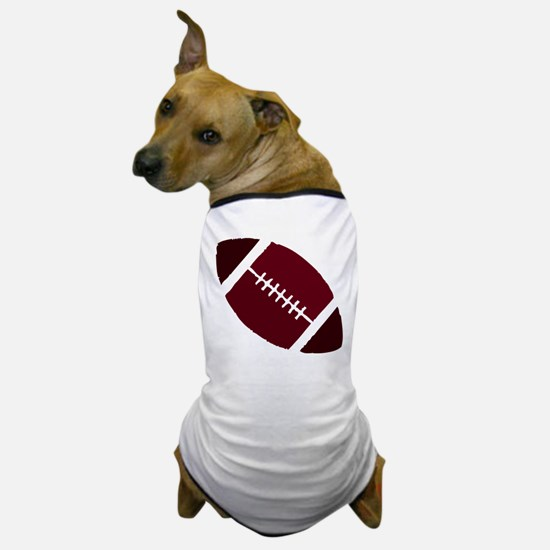 FOOTBALL *1* {crimson 2} Dog T-Shirt