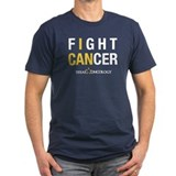 I can fight cancer Fitted T-shirts (Dark)