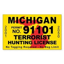 Michigan Terrorist Hunting License Decal
