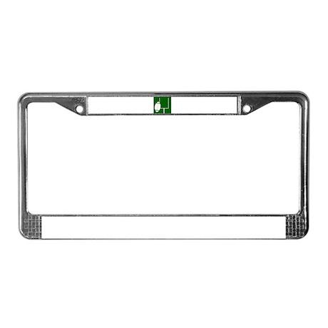 FOOTBALL *3* {green} License Plate Frame