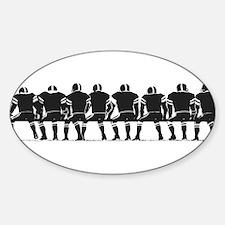 FOOTBALL *4* {gray} Sticker (Oval)