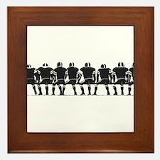 FOOTBALL *4* {gray} Framed Tile
