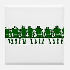 FOOTBALL *4* {green} Tile Coaster