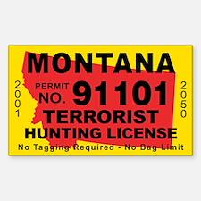 Montana Terrorist Hunting License Decal