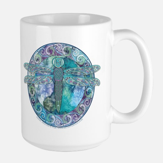 Cool Celtic Dragonfly Large Mug