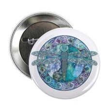 Cool Celtic Dragonfly Button