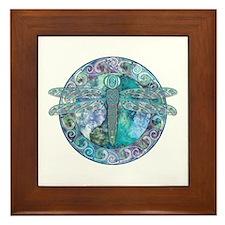 Cool Celtic Dragonfly Framed Tile