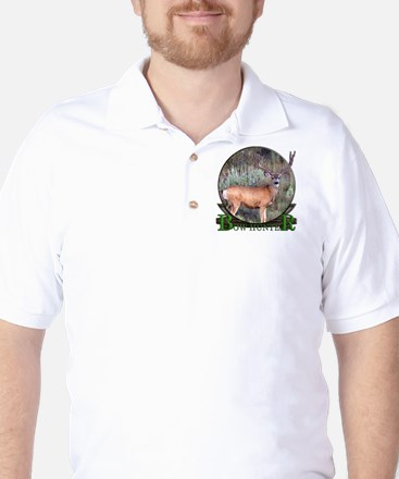 bow hunter, trophy buck Golf Shirt