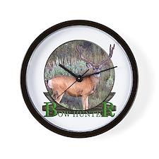 bow hunter, trophy buck Wall Clock