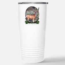 bow hunter, trophy buck Stainless Steel Travel Mug