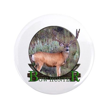 "bow hunter, trophy buck 3.5"" Button"