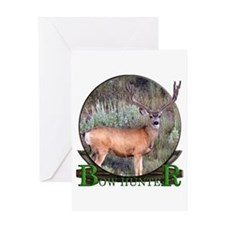 bow hunter, trophy buck Greeting Card