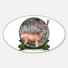 bow hunter, trophy buck Sticker (Oval)