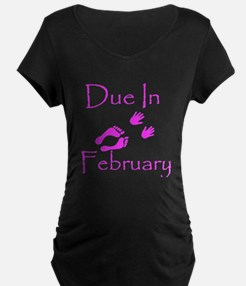 Due In February T-Shirt (top/pink)
